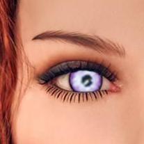 lila Augen