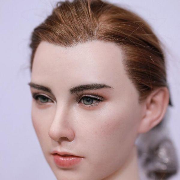 Braun/Rötlich implementierte Haare ( lang )