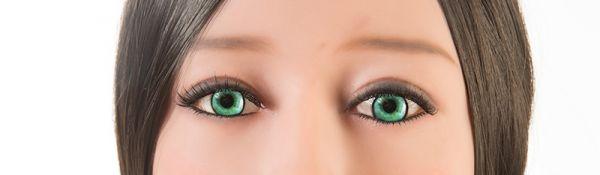 türkise Augen
